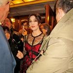 Filmska diva Monica Bellucci je očarala prav vse na filmskem festivalu v Trstu. (foto: Alpe)