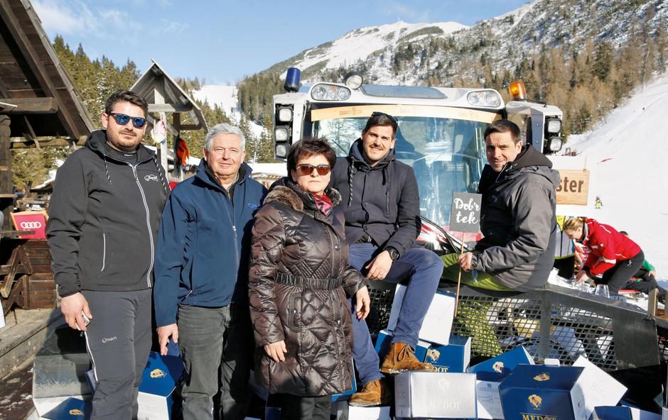 Družina Jezeršek je letos že drugič na Krvavcu organizirala Gourmet Cup. (foto: Helena Kermelj)