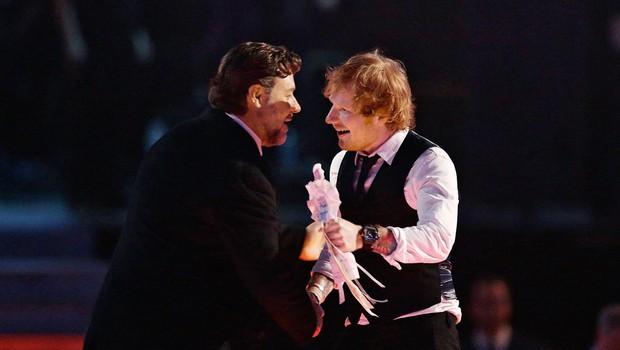 Ed Sheeran in Russell Crowe rada zvrneta skupaj kakšnega kratkega (foto: Profimedia)