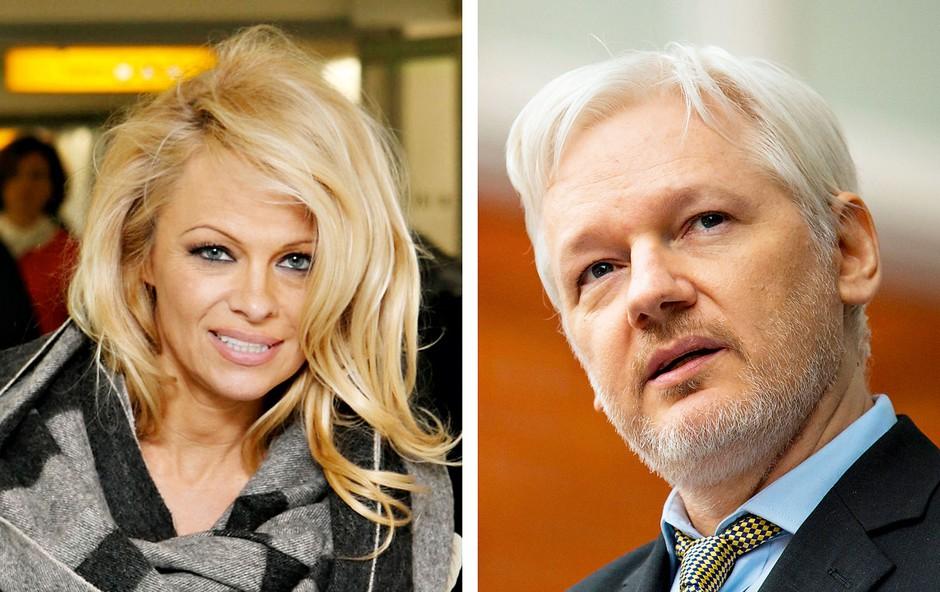 Pamela Anderson in Julian Assange se družita že štiri mesece (foto: Profimedia)