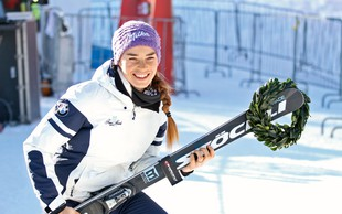 Tina Maze pokazala, kako zelo uživa na snegu in kako je pogrešala smučanje