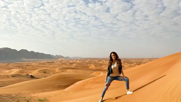 Tina je odkrivala zanimivosti Dubaja. (foto: osebni arhiv)
