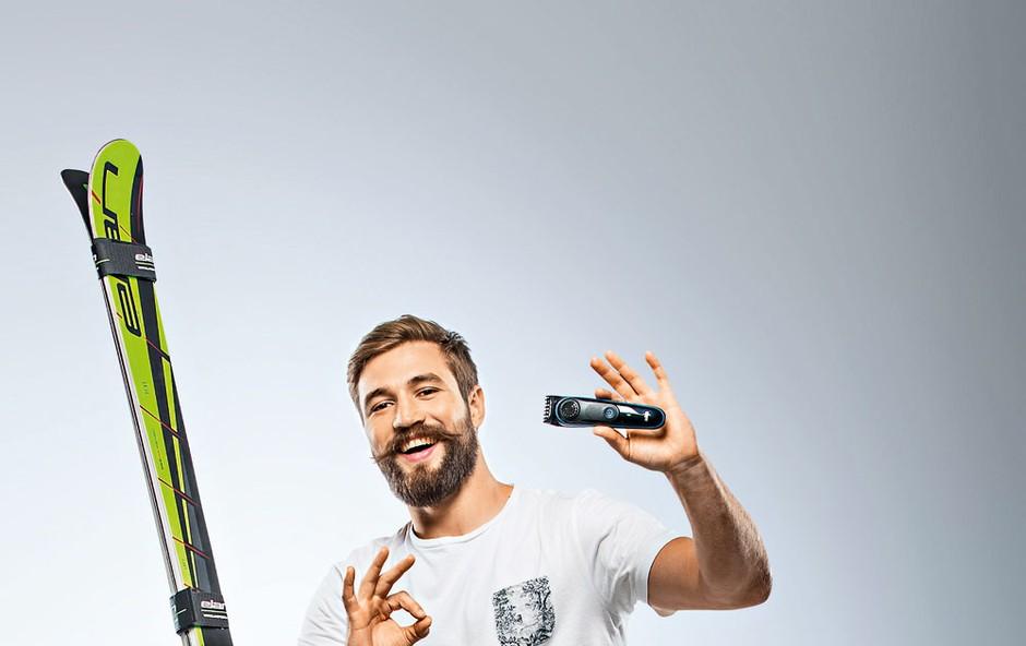 Filip Flisar poleg brkov skrbi še za brado (foto: Bor Dobrin)