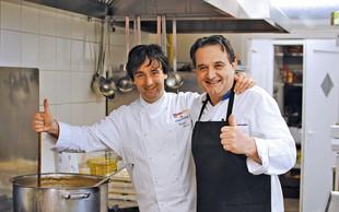 Tomaž Kavčič je svoje vrhunske jedi ponudil tudi v ljudski kuhinji