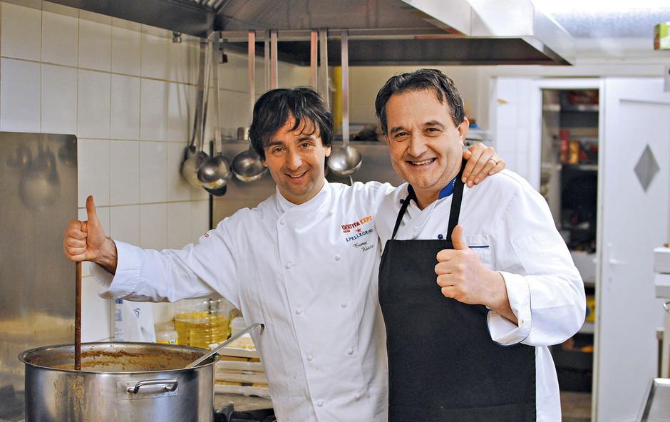 Tomaž Kavčič je svoje vrhunske jedi ponudil tudi v ljudski kuhinji (foto: arhiv zavoda Pod strehco)