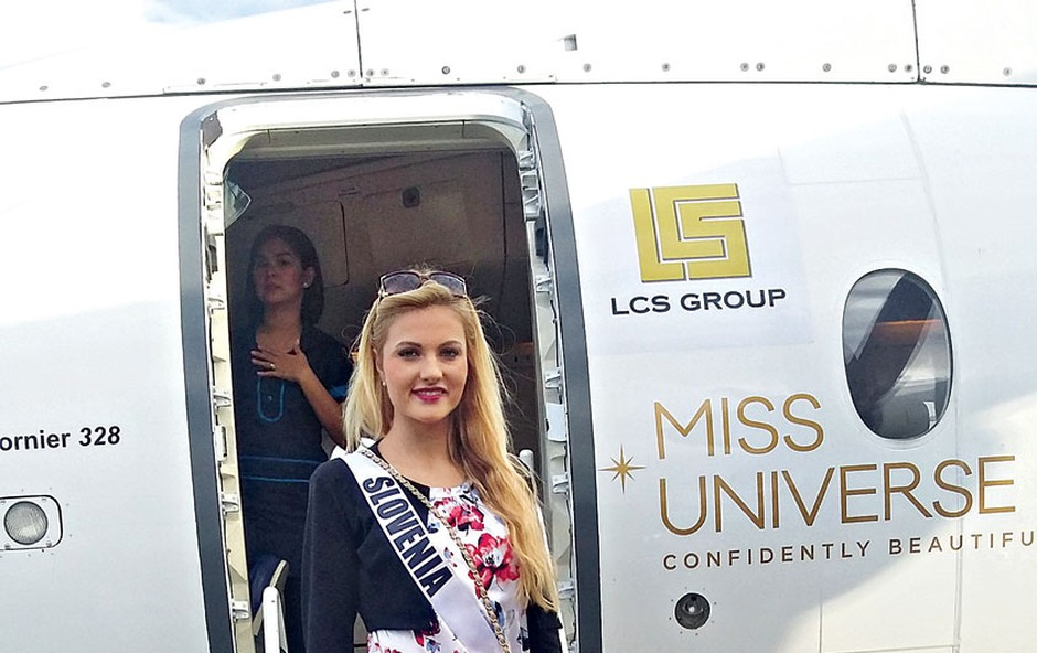 Miss Universe Lucija Potočnik: Spoznala filipinskega predsednika (foto: osebni arhiv)