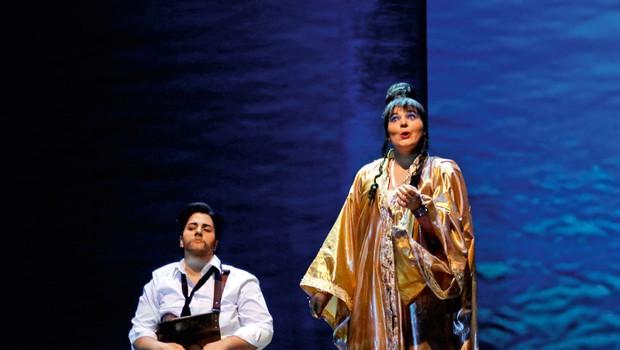 Operni spektakel Julij Cezar v Egiptu z inovativno izvedbo na odru Cankarjevega doma (foto: Dražen Sokčević)