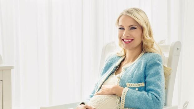 Maja Ferme: Nosečnost je za poslovno žensko izziv (foto: Primož Lukežič)
