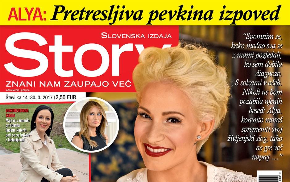 V novi Story: Alyina izpoved - zbolela je za tumorjem na ščitnici! (foto: Story)