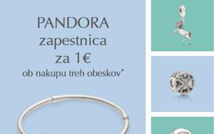 Akcija: Zapestnice Pandora že za 1 euro