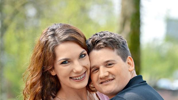 Karin Lazar in Urban Žertek (Televizijska poroka): Šesti par, ki se bo  poročil  pred  kamerami (foto: Primož Predalič)