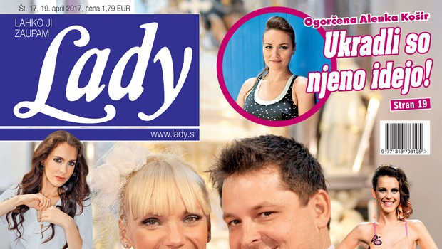 Luka in Aleksandra Jezeršek za Lady o svoji sanjski poroki! (foto: Lady)