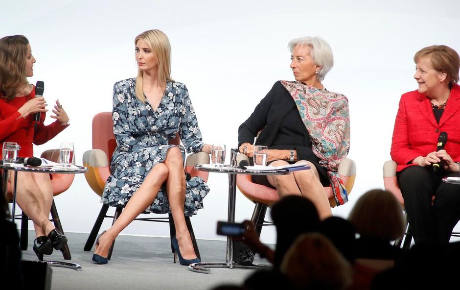 Ivanka Trump v Berlinu o zglednem očetovem odnosu do žensk, dvorana pa v smeh! (foto: profimedia)