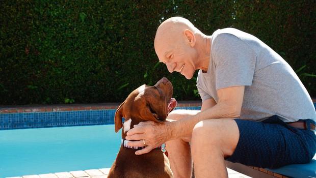 Patricku Stewartu je pes spremenil življenje (foto: Profimedia)