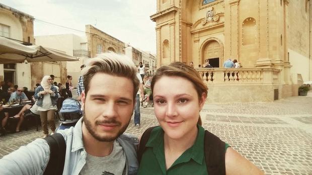 Z Mašo sva na trgu v Marsaxlokku 'škljocnila' 68 selfijev. (foto: osebni arhiv)