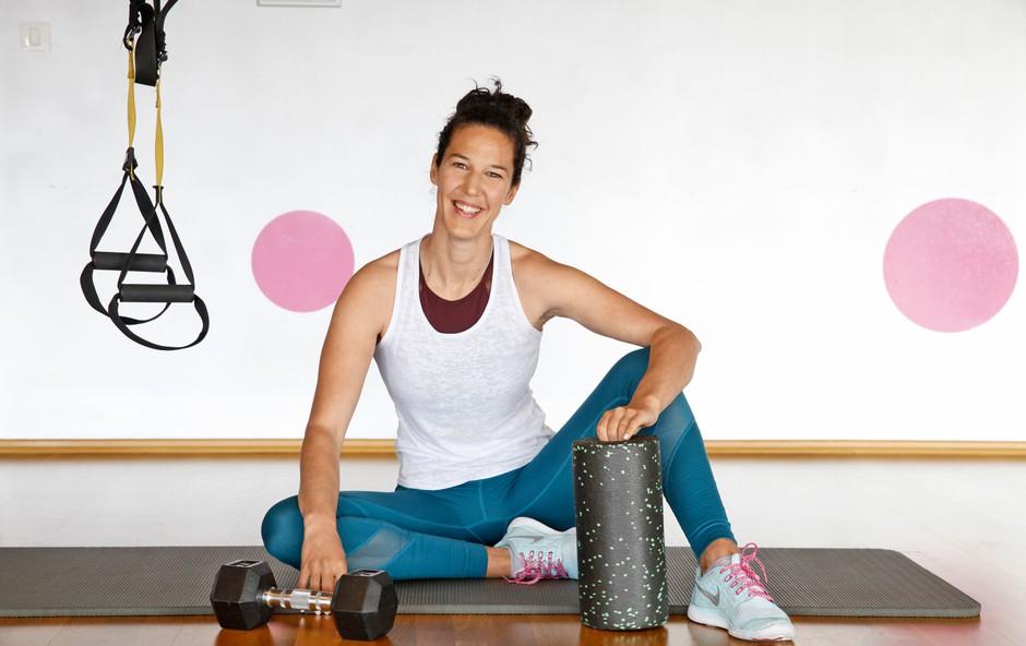 Nuša Gnezda, trenerka fitnesa: Je vadba po  porodu nevarna? (foto: Helena Kermelj)