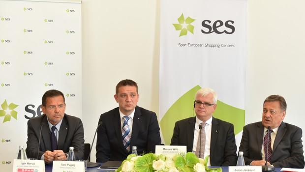 Z leve: mag. Igor Mervič, Toni Pugelj, Marcus Wild in Zoran Jankovič. (foto: Robert Krumpak)