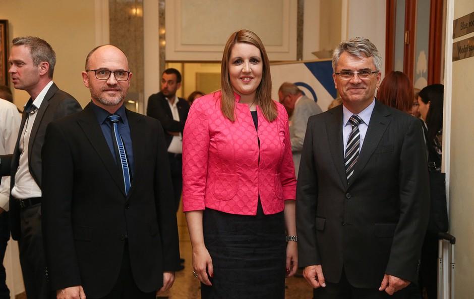 Aleksander Zupančič, Bernarda Škrabar in Aleksander Zalaznik. (foto: Barbara Reya)