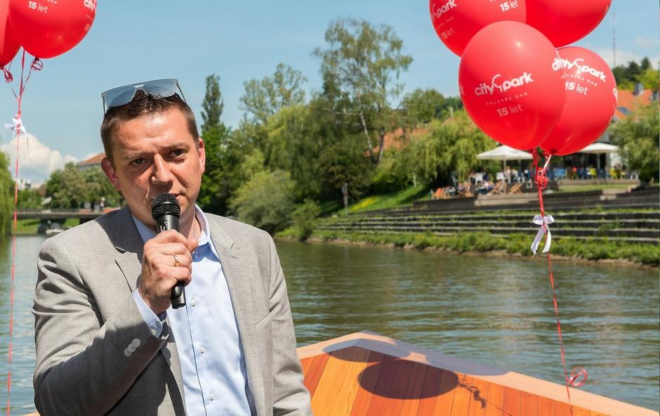 Toni Pugelj, direktor Cityparka, je predstavil rojstnodnevni program. (foto: Robert Krumpak)