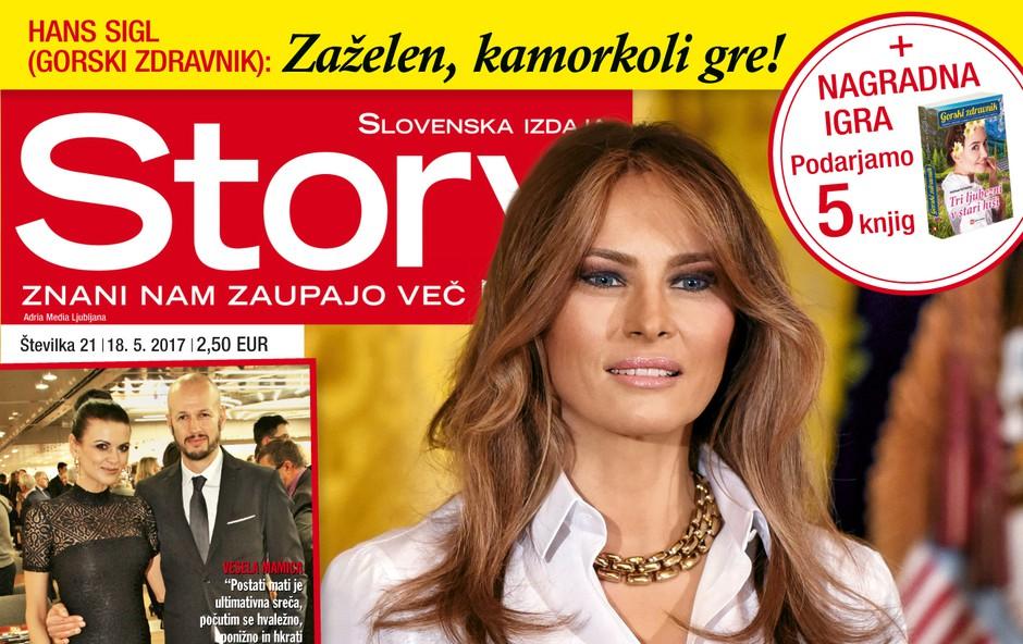 Melania Trump - njen prvi obisk blizu Slovenije! Več v novi Story. (foto: Story)