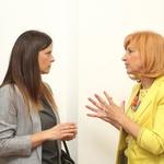 V pogovoru sta se ujeli tudi Urša Murn in Irena Vide. (foto: Barbara Reya)