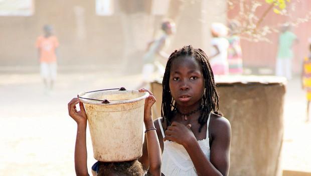 Maja Štamol Droljc za pomoč otrokom v Gvineji Bisauu (foto: osebni arhiv)