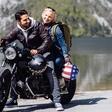 Jernej Tozon in Jagoda Batagelj skupaj na motorju