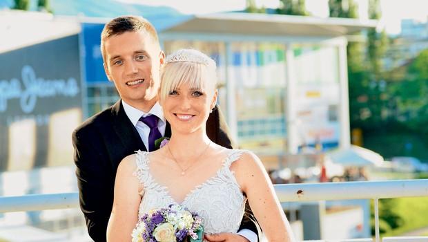 Tadeja Ornik in Boris Grubar: Sanjska poroka v Europarku (foto: Bojan Mihelič)