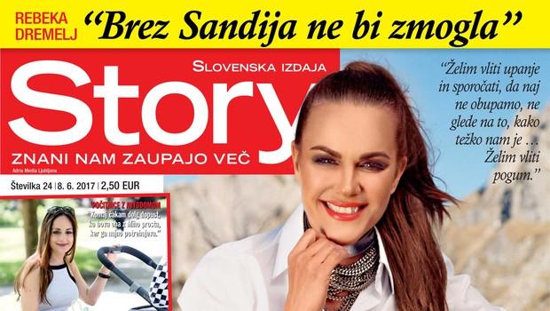Rebeka Dremelj: Brez Sandija ne bi zmogla. Več v novi Story! (foto: Story)