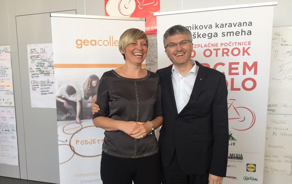 Katja Kraškovic, direktorica uprave GEA College, in Franci Pliberšek, direktor podjetja MIK Celje (foto: Gea College Press)