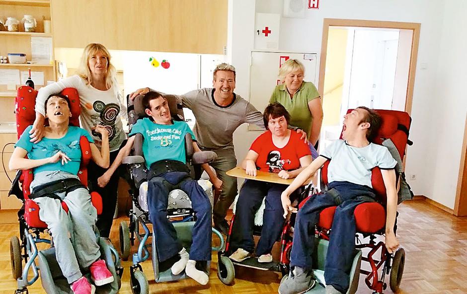 Werner obiskal otroke s posebnimi potrebami (foto: osebni arhiv)