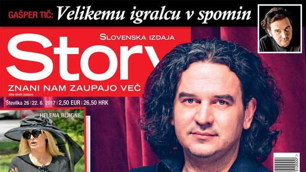 Gašper Tič: Velikemu igralcu v spomin. Več v novi Story. (foto: Story)