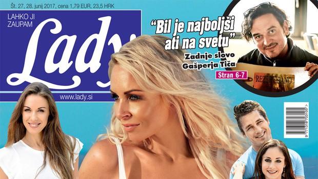 """Razgaljena Špela Grošelj za Lady: """"Ženske so ljubosumne!"""" (foto: Lady)"""