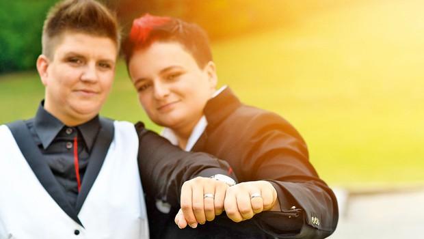 Novoporočenki Martina Ipša in Janja Zdolšek o poroki: Bilo je zelo čustveno (foto: Marko Pigac)