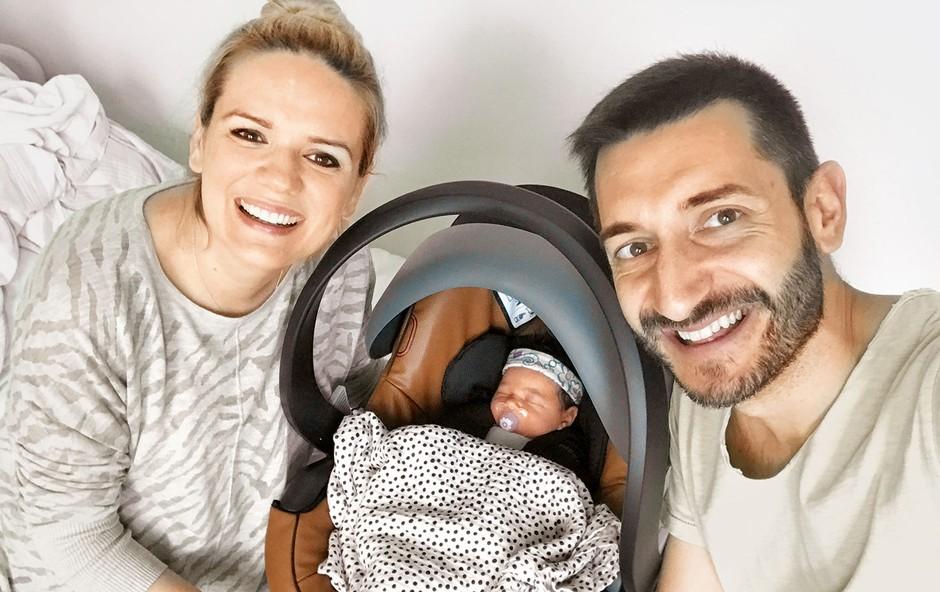 Dragan in Aida Gajić drugič starša: Mia je na svet prijokala v dobri uri (foto: osebni arhiv)
