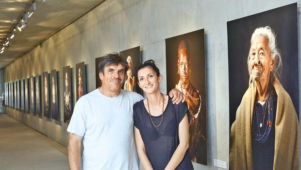 Katja Bidovec in Arne Hodalič: Razstava portretov plemen, ki so na robu izumrtja (foto: Primož Predalič)