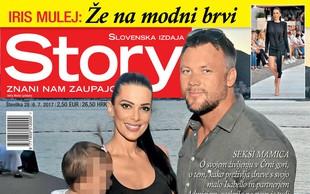Iris Mulej: Isabello je prvič čuval očka. Več v novi Story!