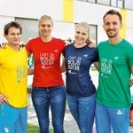 Športniki Mitja Petkovšek, Anja Frešer, Maja Mihalinec in Sašo Bertoncelj so razveselili otroke s svojimi športnimi zgodbami.  (foto: Mediaspeed)