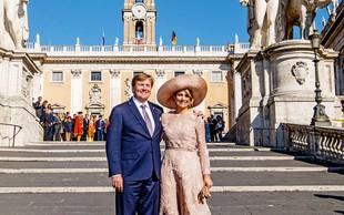 Nizozemski kralj in kraljica uživala na obisku v Italiji
