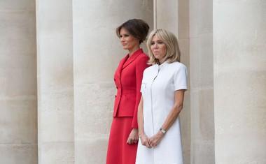 """Trump Macronovi soprogi Brigitte: """"Ste v zelo dobri formi, krasno!"""""""