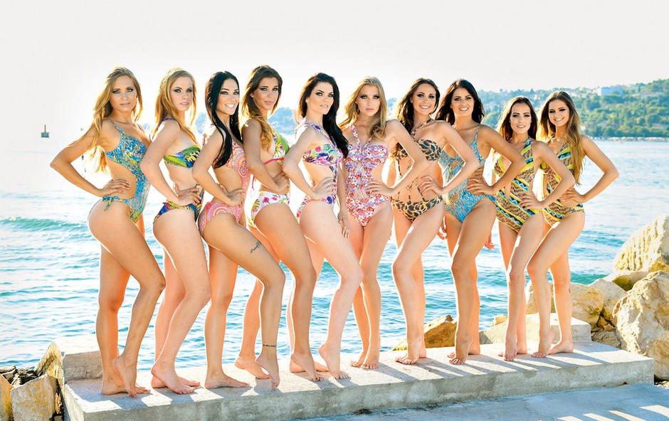 Finalistke izbora Miss Slovenije: Pozirale v Portorožu (foto: Grega Eržen)