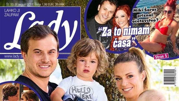 """Anže Zavrl (Gadi): """"Naša Lana začne takoj migati, ko zasliši kakšno poskočno polko."""" Več v novi Lady! (foto: revija Lady)"""