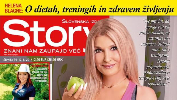 Helena Blagne o dietah, treningih in zdravem življenju! Več v novi Story! (foto: Revija Story)