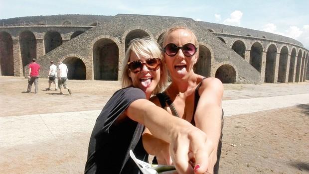 Ota Širca Roš in Polona Jambrek: Skupaj na dopust v Neapelj (foto: osebni arhiv)