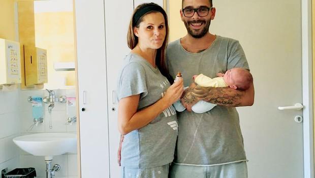 """Teja Perjet in Jani Jugovic: """"Moški poroda ne bi zmogli"""" (foto: osebni arhiv)"""