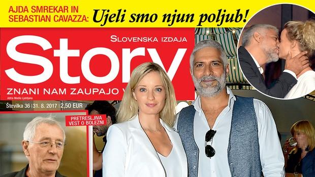 Ajda Smrekar in Sebastian Cavazza: Najlepši igralski par! Več v novi Story! (foto: Revija Story)