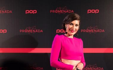 Natalija Bratkovič blestela na rdeči preprogi v obleki Barbare Repinšek