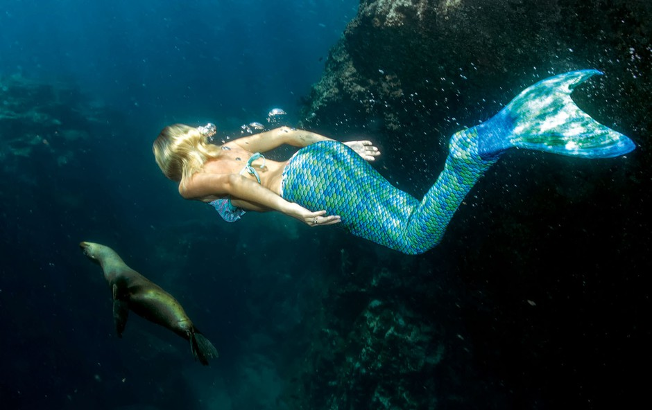 Tečaj z monoplavutjo Mateje Gutman: En dan kot morska deklica (foto: Shutterstock, osebni arhiv)