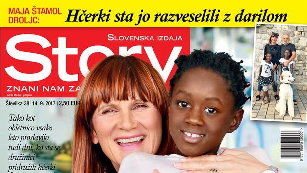 V novi Story ne zamudite: 10. obletnica poroke Maje Štamol Droljc! (foto: Revija Story)