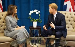 Melania Trump očarala princa Harryja